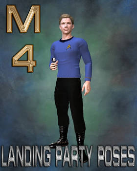 M4 Landing Party Poses with Phaser