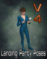 V4 Landing Party Poses - Tricorder by mylochka