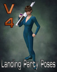 V4 Landing Party Poses - Laser Rifle