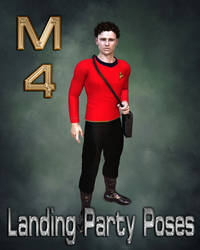 M4 Landing Party Poses with Tricorder