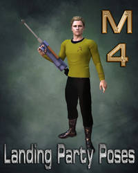 M4 Landing Party Poses with Phaser Rifle