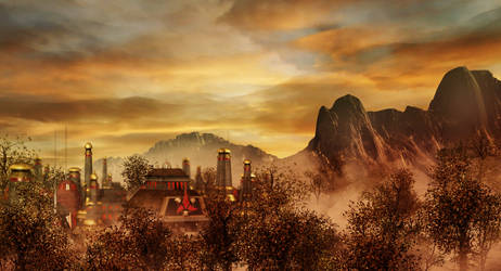 Klingon City in Fog