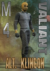 Alternate Klingon Uniform Texture for M4 Valiant by mylochka