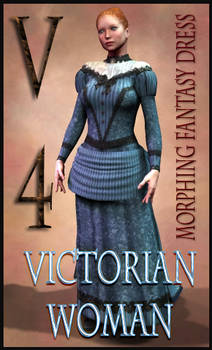 Victorian Woman Costume Textures for MFD