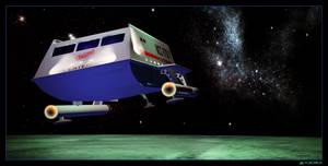 Shuttle Over Elba by mylochka