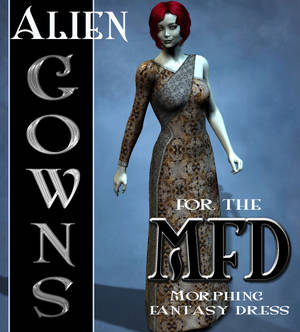 Alien Gown Textures for the Morphing Fantasy Dress
