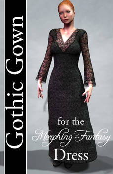 Gothic Gown Texture for Morphing Fantasy Dress