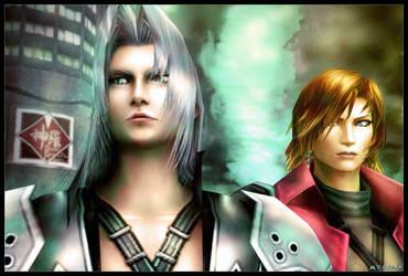 Genesis and Sephiroth by mylochka