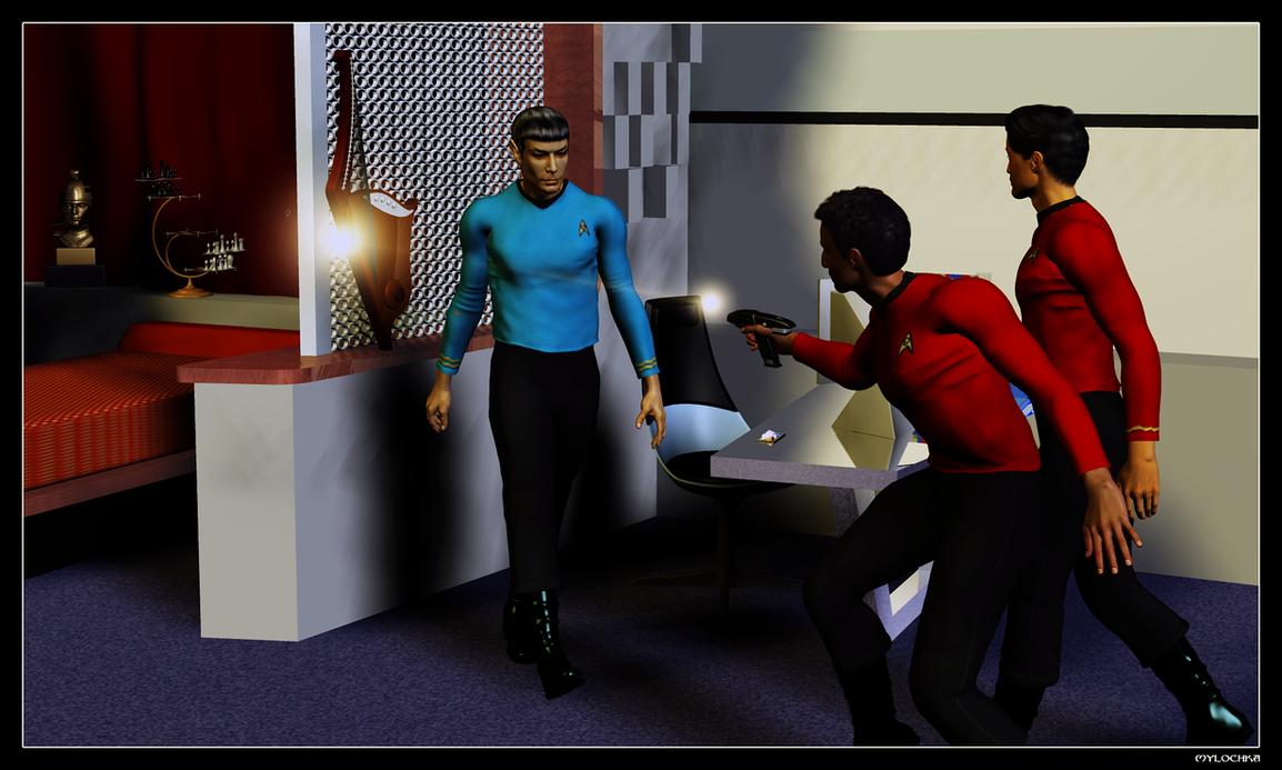 Trouble in Spock's Quarters by mylochka