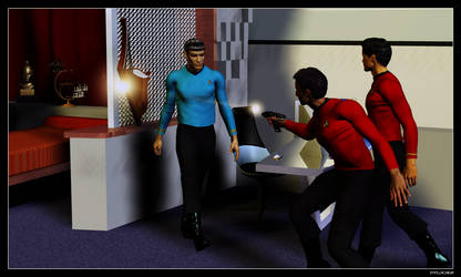 Trouble in Spock's Quarters