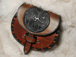 Celtic Leather Sporran Belt Bag by EastCoastLeather