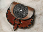 Celtic Leather Sporran Belt Bag