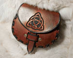 Leather Knot-Work Sporran Belt Pouch