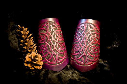 Celtic Knot-Work Leather Cuffs