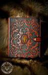 Victorian Scroll-Work Leather Journal Cover