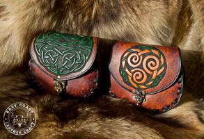 Celtic Knot-Work Sporran Belt Bags by EastCoastLeather