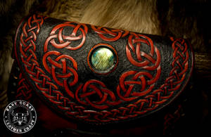 Leather Crossbody Purse - Celtic Knot-Work Detail by EastCoastLeather