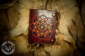 Sacred Geometry and Labradorite Leather Journal by EastCoastLeather