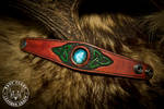 Celtic Leather and Labradorite Bracelet