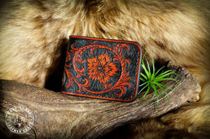Classic Western Tooled Leather Wallet by EastCoastLeather