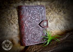 Tooled Leather Travel Wallet