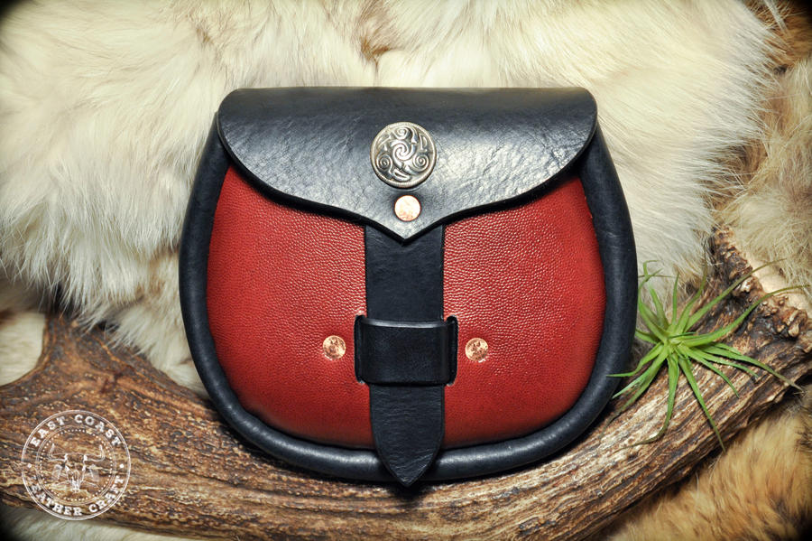 Red leather Sporran
