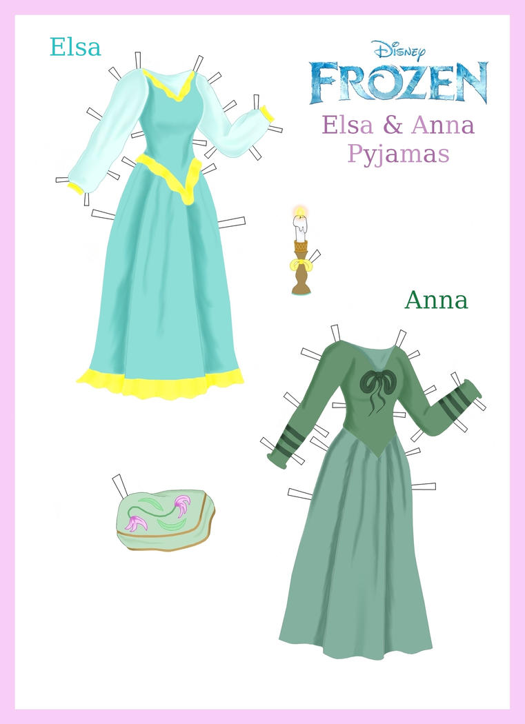 Frozen Elsa Paper Doll