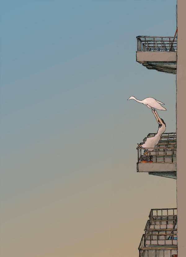 sketch-when the birds came by begemott