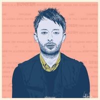 Thom Yorke by EvilFrogo