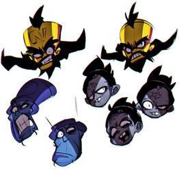Crash Bandicoot villanos