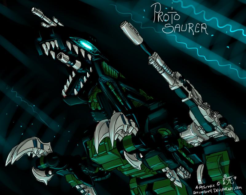 ZOIDS - Proto Saurer by SakuraBomb