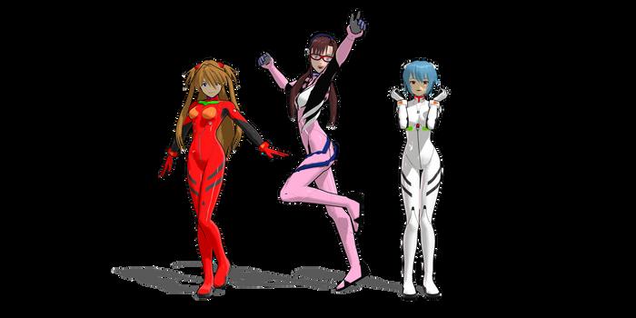 mmd evangelion anime models download