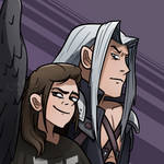 Arcea and Sephiroth Twitch Profile Picture by Chasedownall