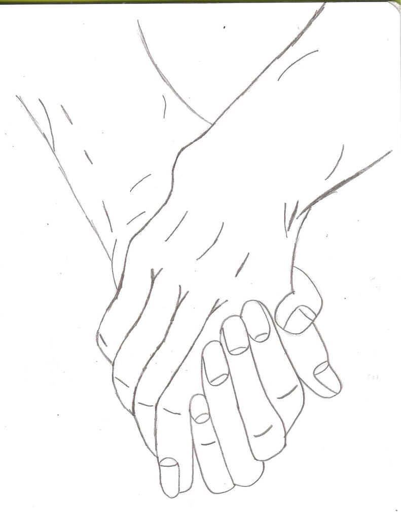 D Line Drawing Hand : Two people holding hands by kittyness on deviantart