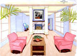 Living Room- Hand Rendering