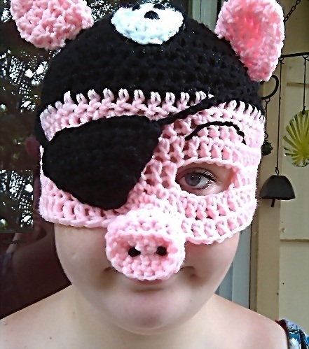 Crochet Pirate Pig by Drgibbs