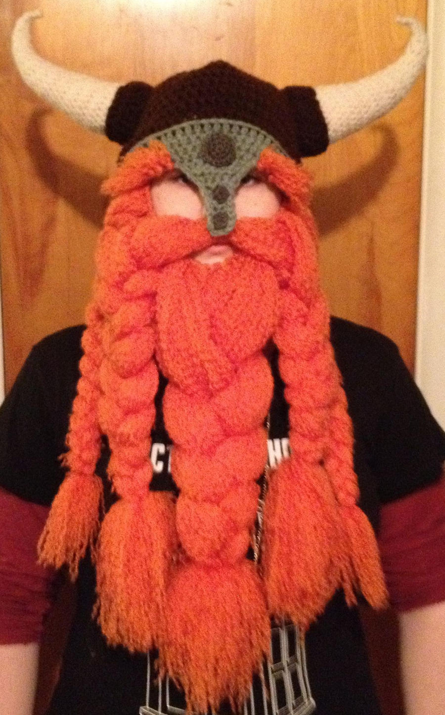 5 braid carrot colored beard by Drgibbs