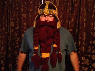 Gimli inspired helm and beard by Drgibbs