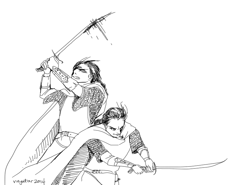 Elladan and Elrohir by vinyatar