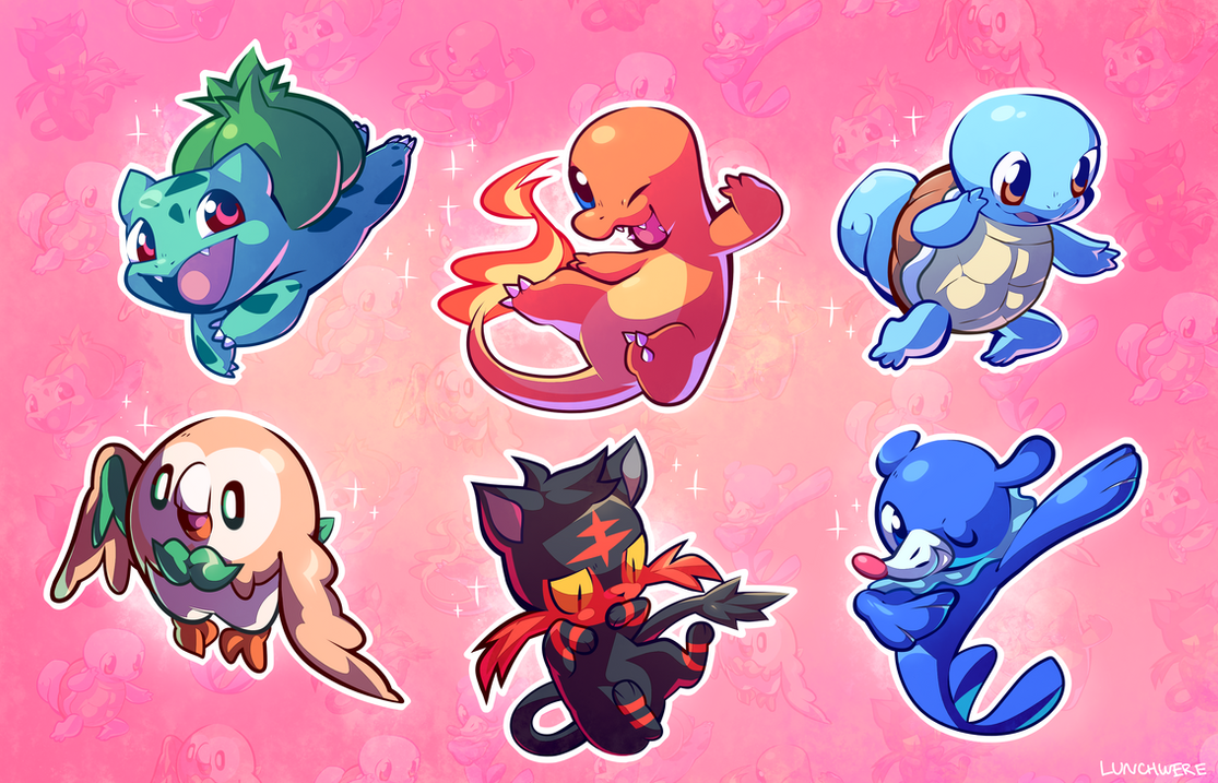 Image Result For Pokemon Starters With