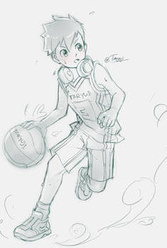 Let's come to play Basketball with him together. x