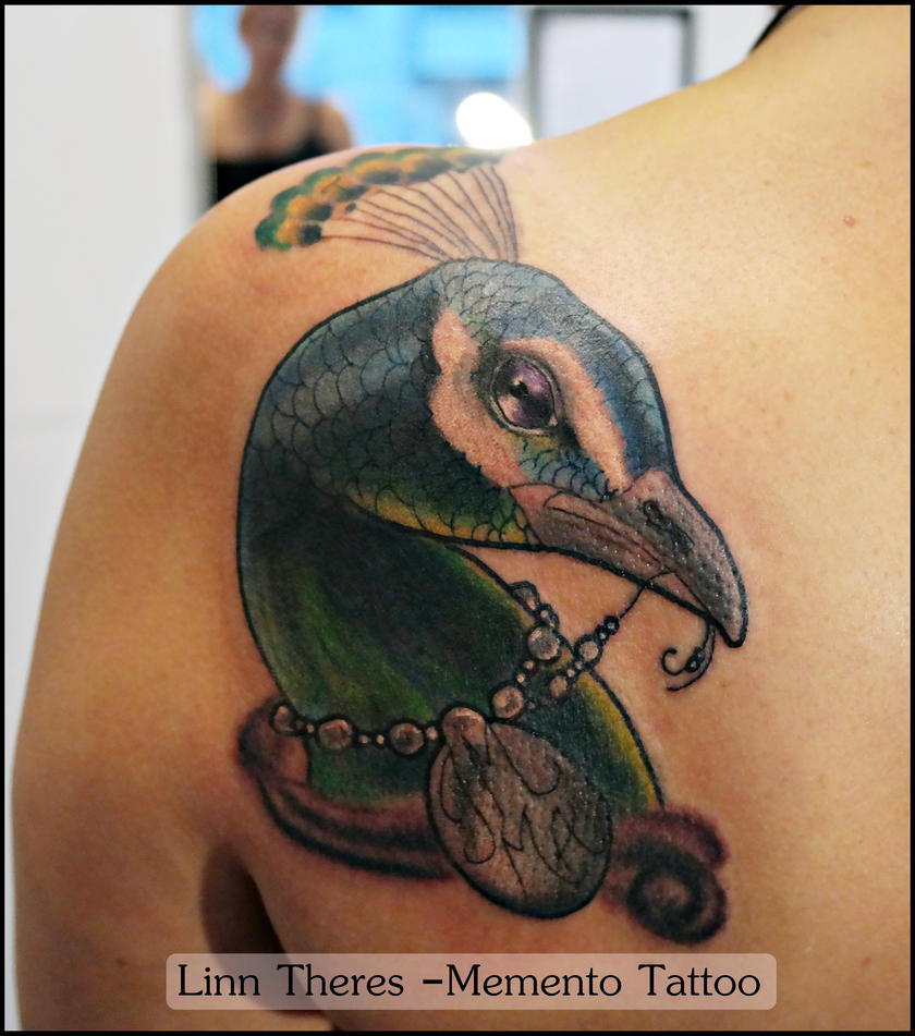 Peacock by mythos tattoo on deviantart for Traditional peacock tattoo