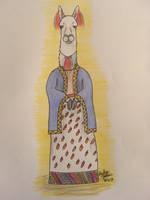 Anthropomorphic Challenge: Miss Llama by erbyderby24