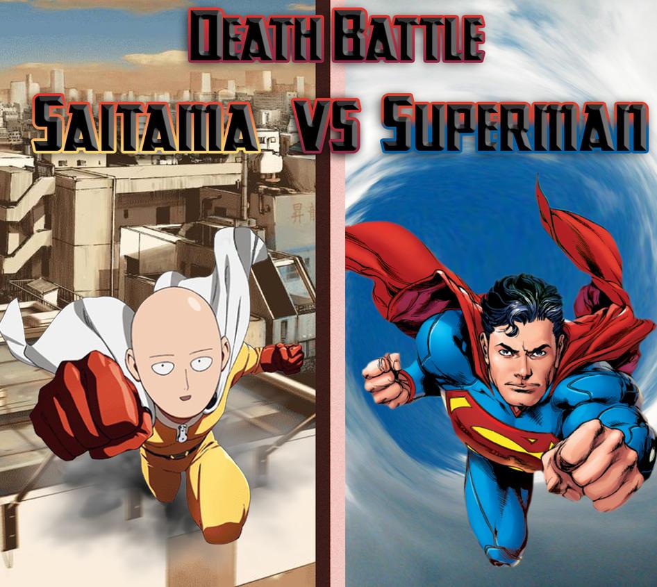 Death Battle Pic Saitama Vs Superman By Water Frez