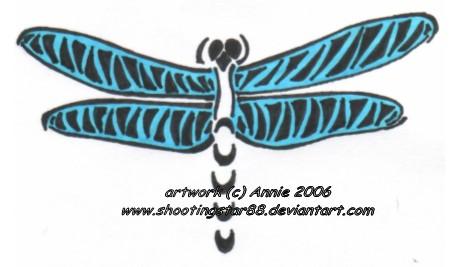Tribal Dragonfly - dragonfly tattoo