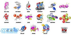 Sonic the Hedgehog 1 Badniks