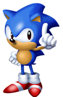 Sonic from Sonic 3 Main Menu by TokeiTime