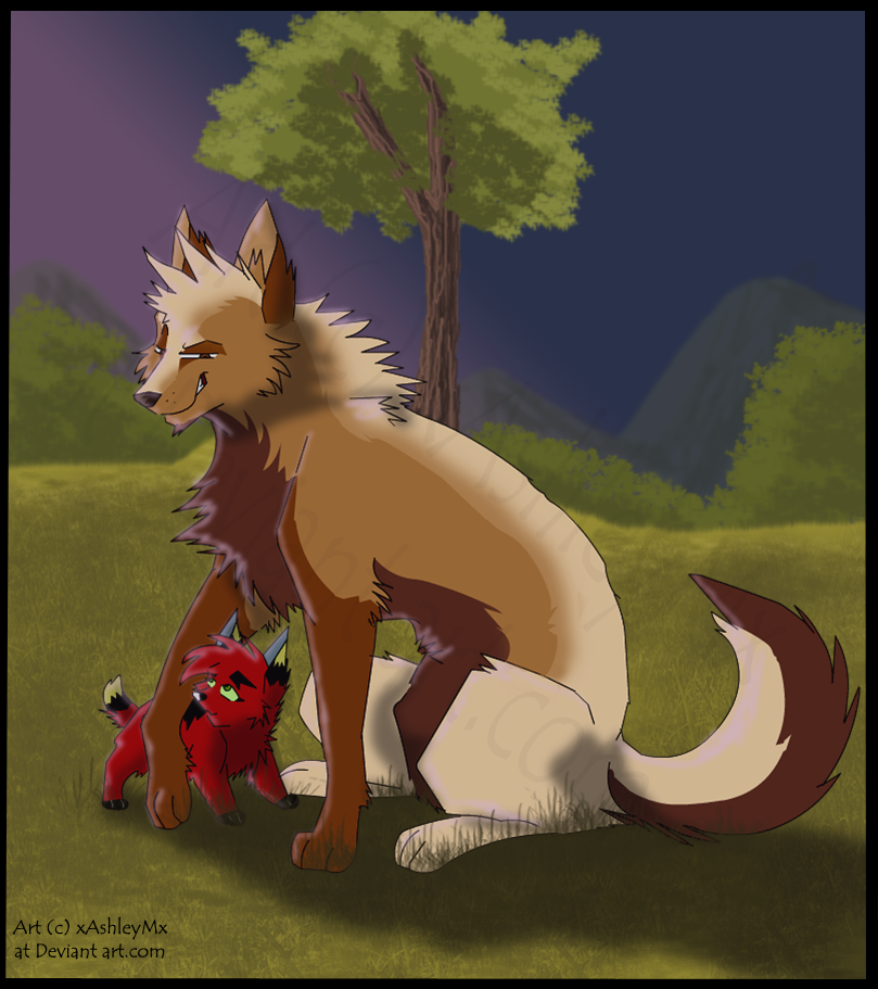 Don't run off, little red one by xAshleyMx