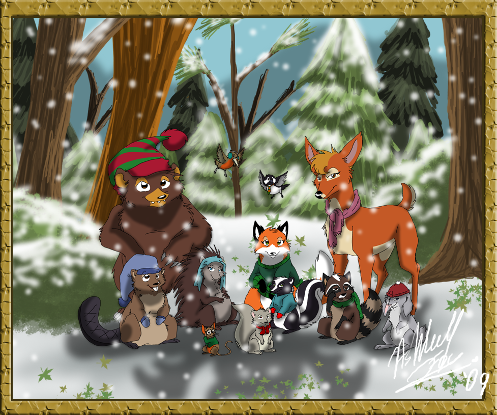 Woodland Christmas Critters by TheCynicalHound on DeviantArt