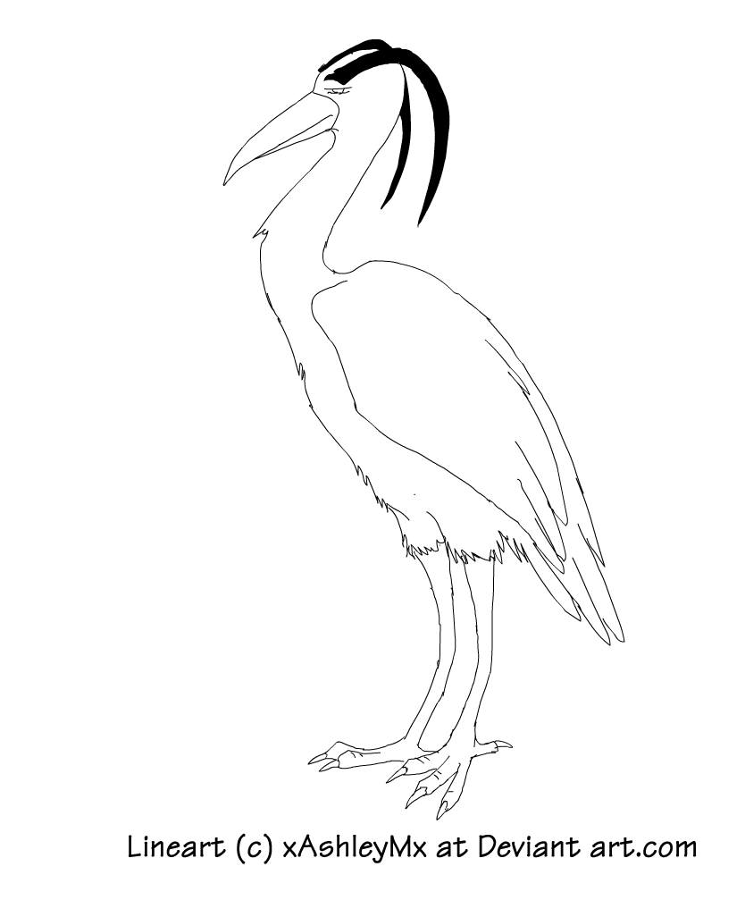 great blue heron lineart by thecynicalhound on deviantart